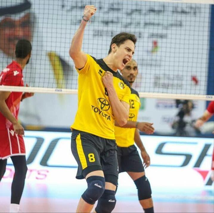 Andres Piza, voleibolista colombiano campeón en Bahrein